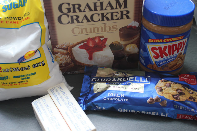 Ingredients for peanut butter Easter eggs
