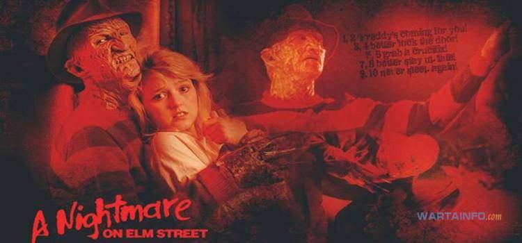 poster Nightmare on Elm Street (1984) Film Horor terseram terbaik paling menegangkan