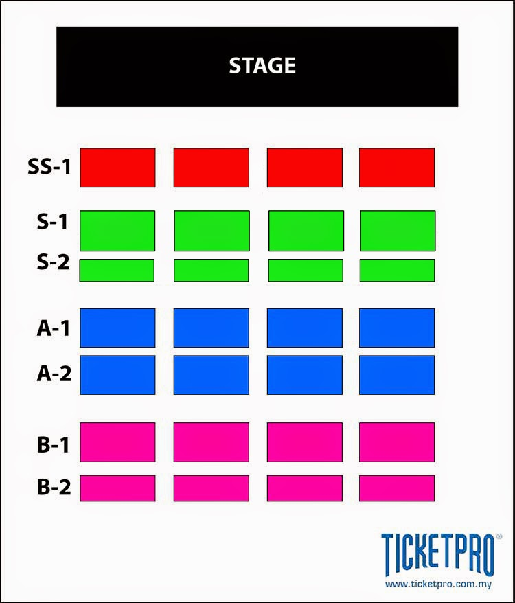 Seating Layout for Live Spectacle Naruto