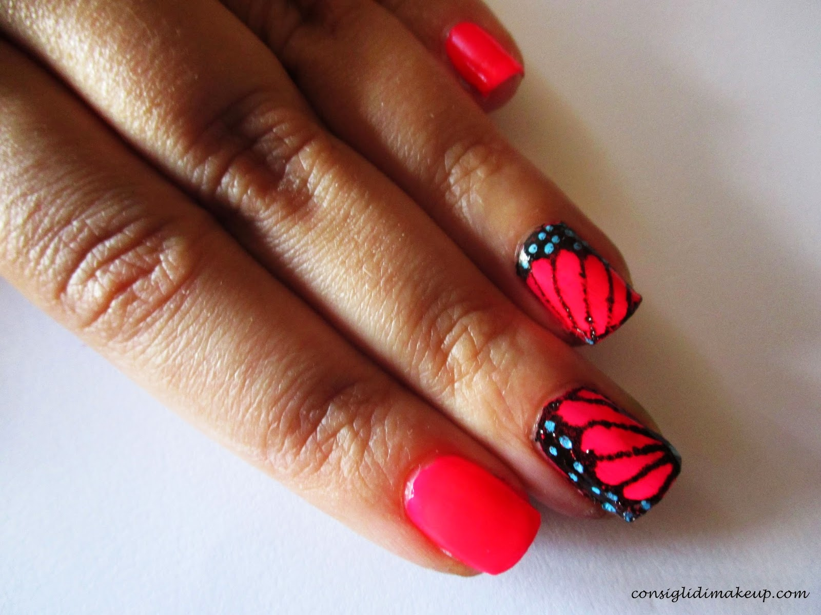 Nail art: The Butterfly Effect