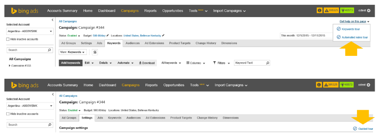 New! Take a Guided Tour of Bing Ads