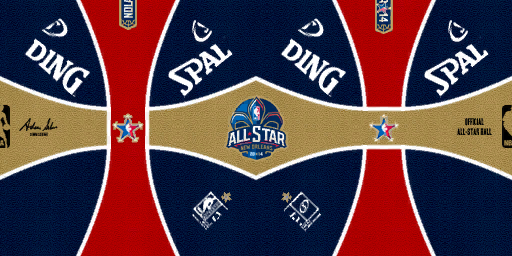 NBA 2K14 Spalding All-Star Game 2014 Money Ball Mod