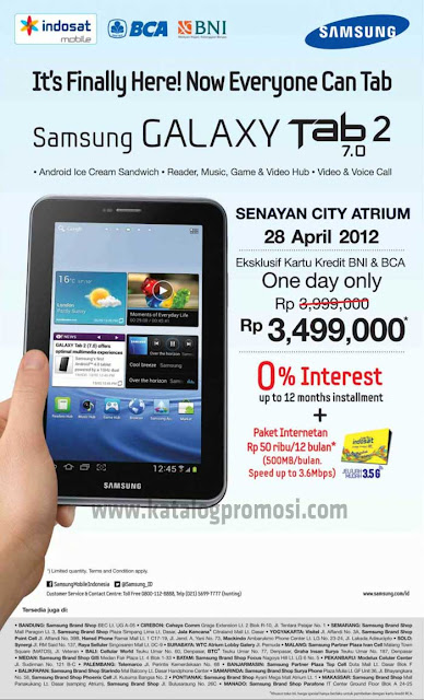 Tablet Galaxy Tab 2 Bundling Indosat Harga 3 Jutaan