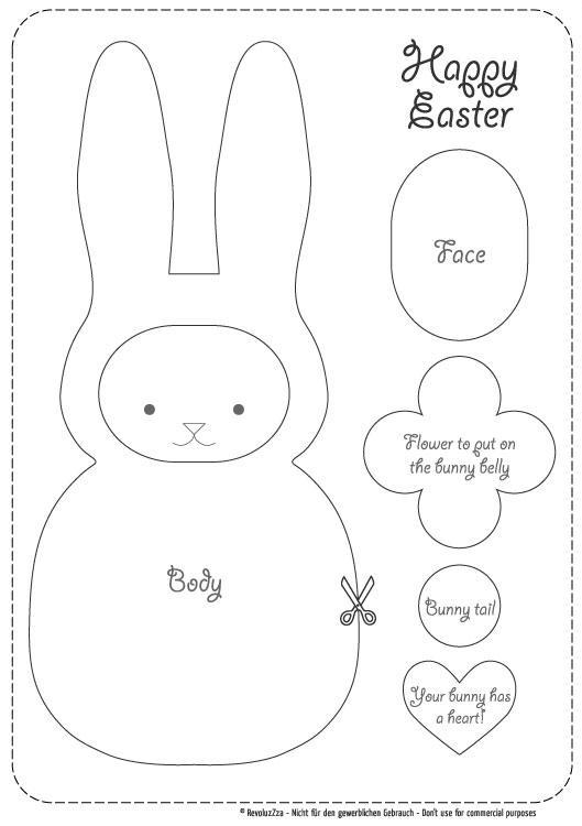 Moldes de conejos en foami para imprimir - Imagui