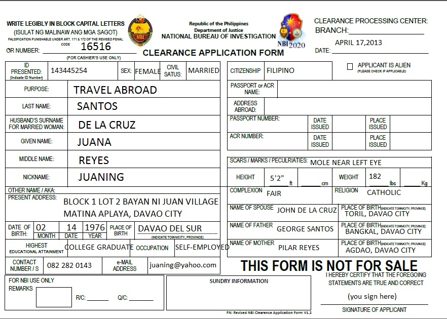 How To Go About Processing NBI Clearance In Davao City
