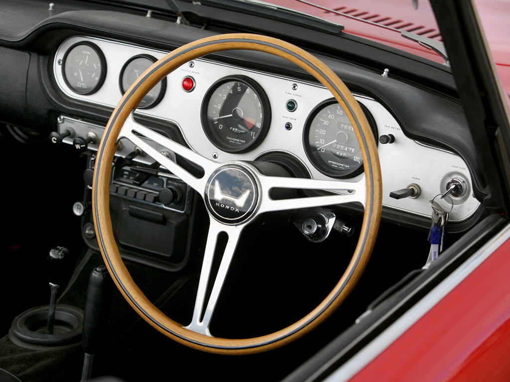 Honda S600, sports, japoński sportowy samochód, wnętrze, interior, roadster, klasyk, stary, 日本車, スポーツカー, クラシックカー, ホンダ