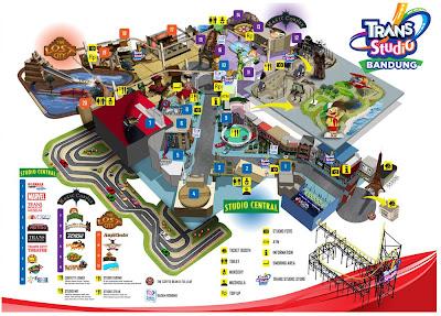 Peta Wahana Trans Studio Bandung
