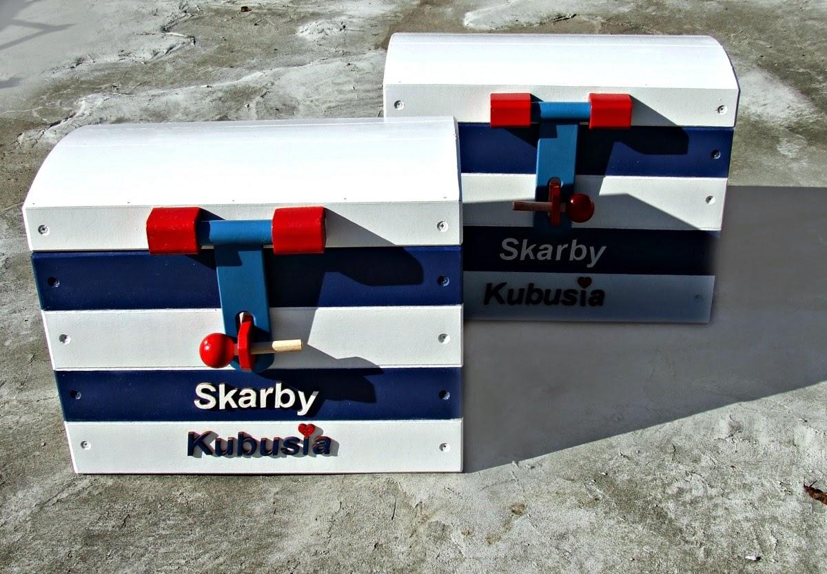 skrzynie kufry pudełka na zabawki w marynarskim stylu - pokój dla dziecka w marynistycznym klimacie Eco Manufaktura