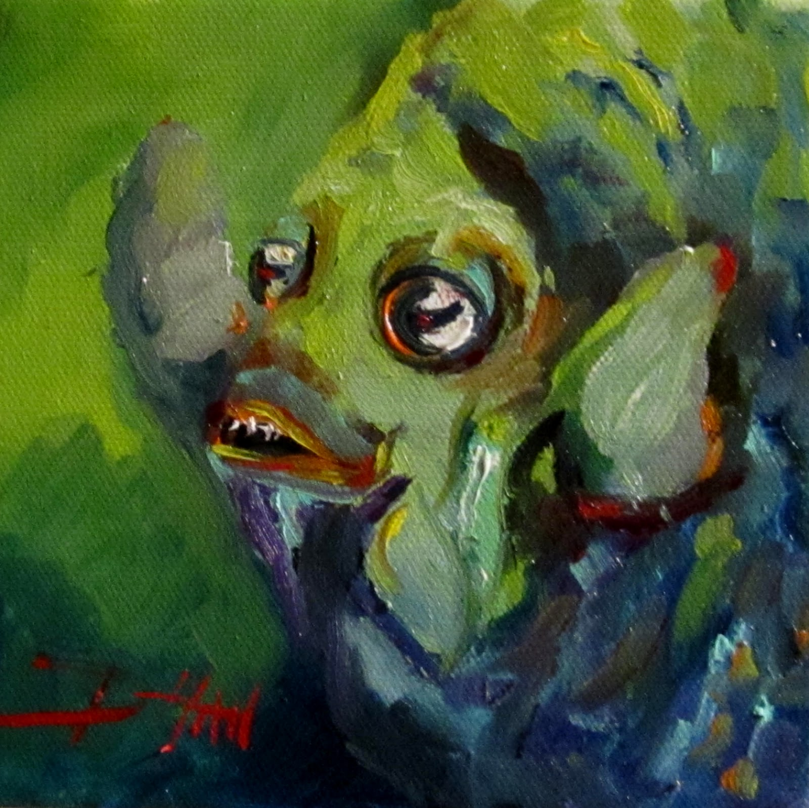 Painting of the day daily oil paintings by delilah for Fish oil on face
