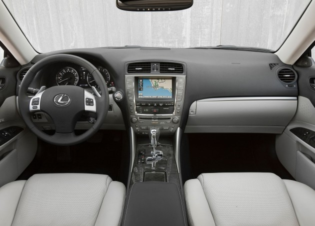 Interior shot of 2011 Lexus IS350