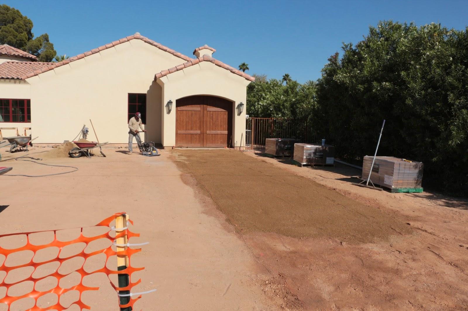 preparing ground for pavers