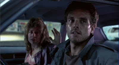 Sarah Connor and Kyle Reese in The Terminator