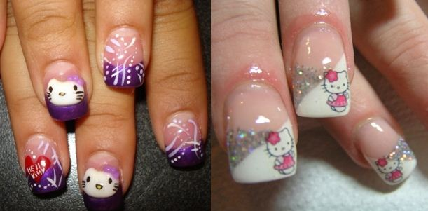 Tips Of Nail Art Decoration Hello Kitty 2011
