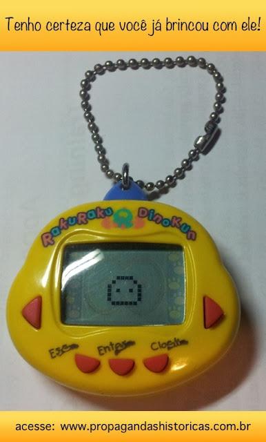 Bichinho Virtual: brinquedo de sucesso entre crianças e jovens na metade dos anos 90.