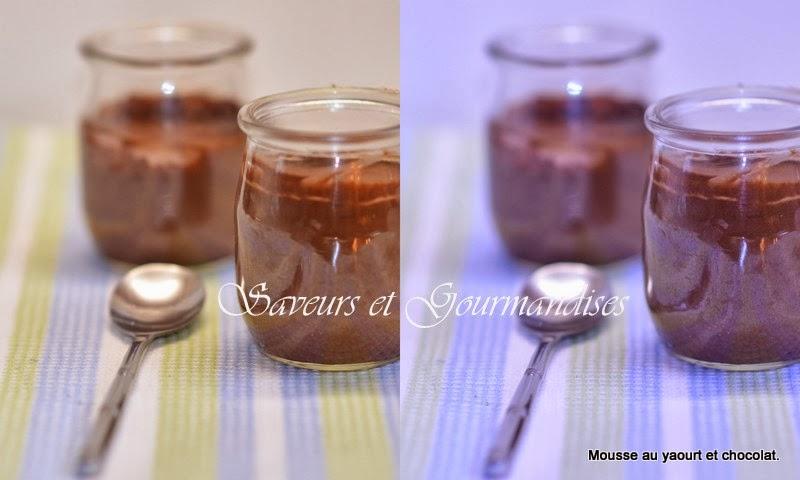 Mousse de  Yaourt au Chocolat.