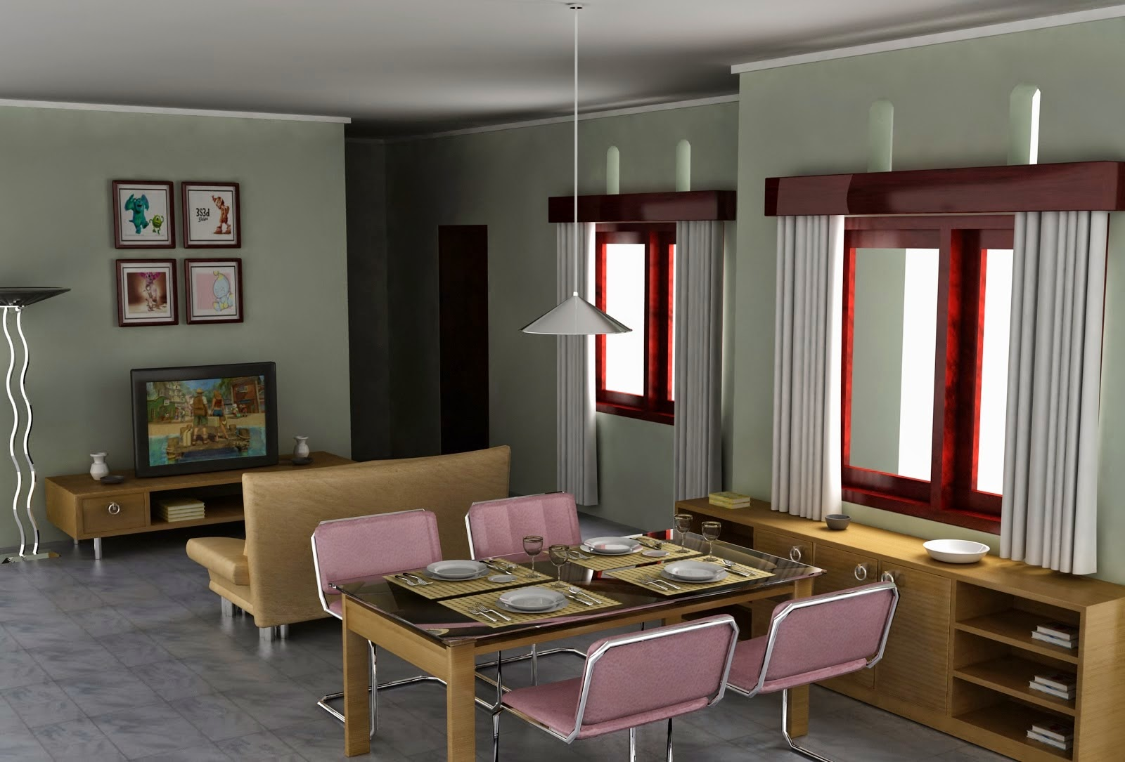 Contoh desain ruang keluarga minimalis kecil sederhana