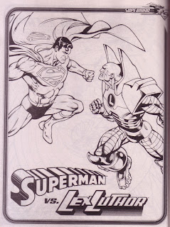 A Superman vs Lex Luthor pin-up from Superman Jumbo Coloring And Activity Book