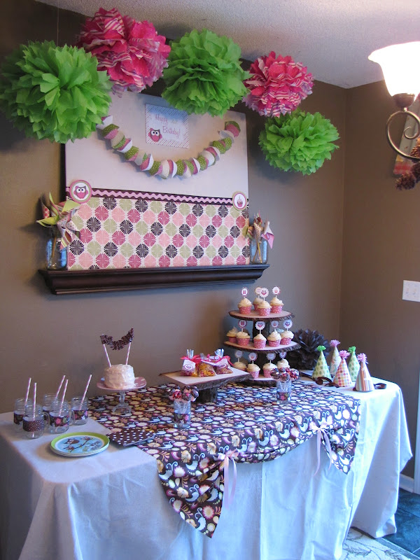 The Modest Homestead little owl first birthday party