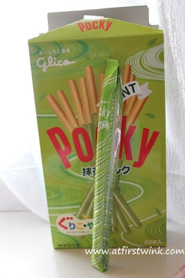 individually wrapped Giant Pocky green tea