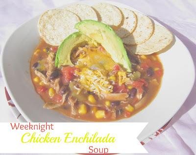 Weeknight Chicken Enchilada Soup