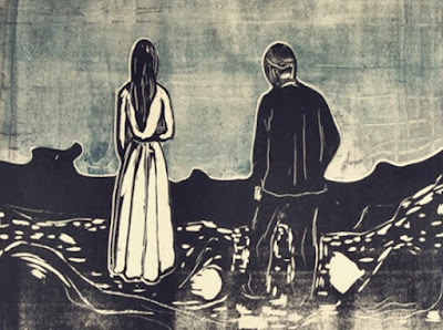 Based on The Lonely Ones 1895 by Edvard Munch