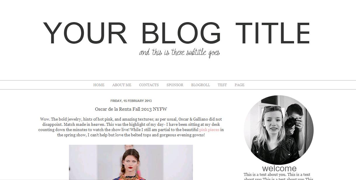 classy lady pre made blog template lifestyle blog entrepreneur