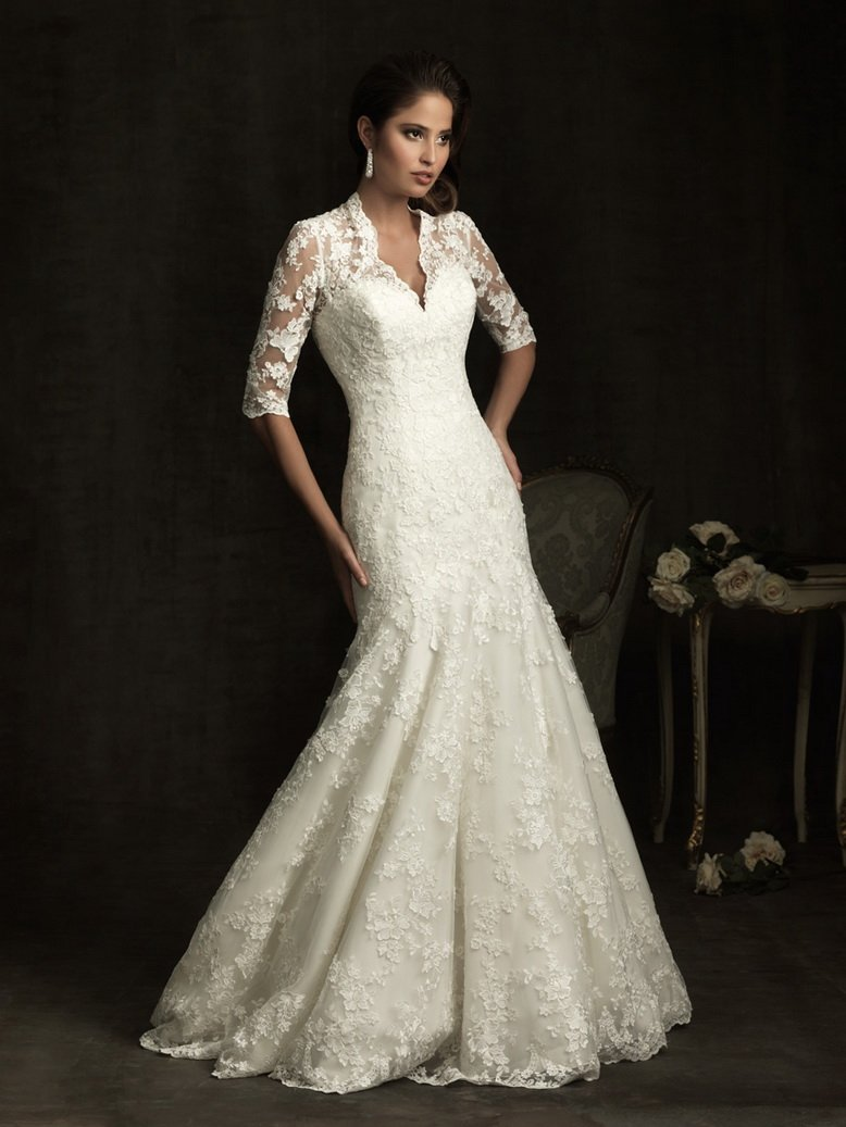 Blog for dress shopping long sleeve wedding dresses back for Wedding dresses with half sleeves