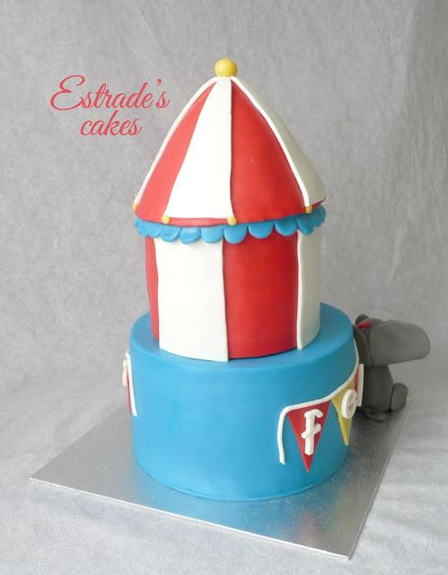 tarta circo con fondant 4