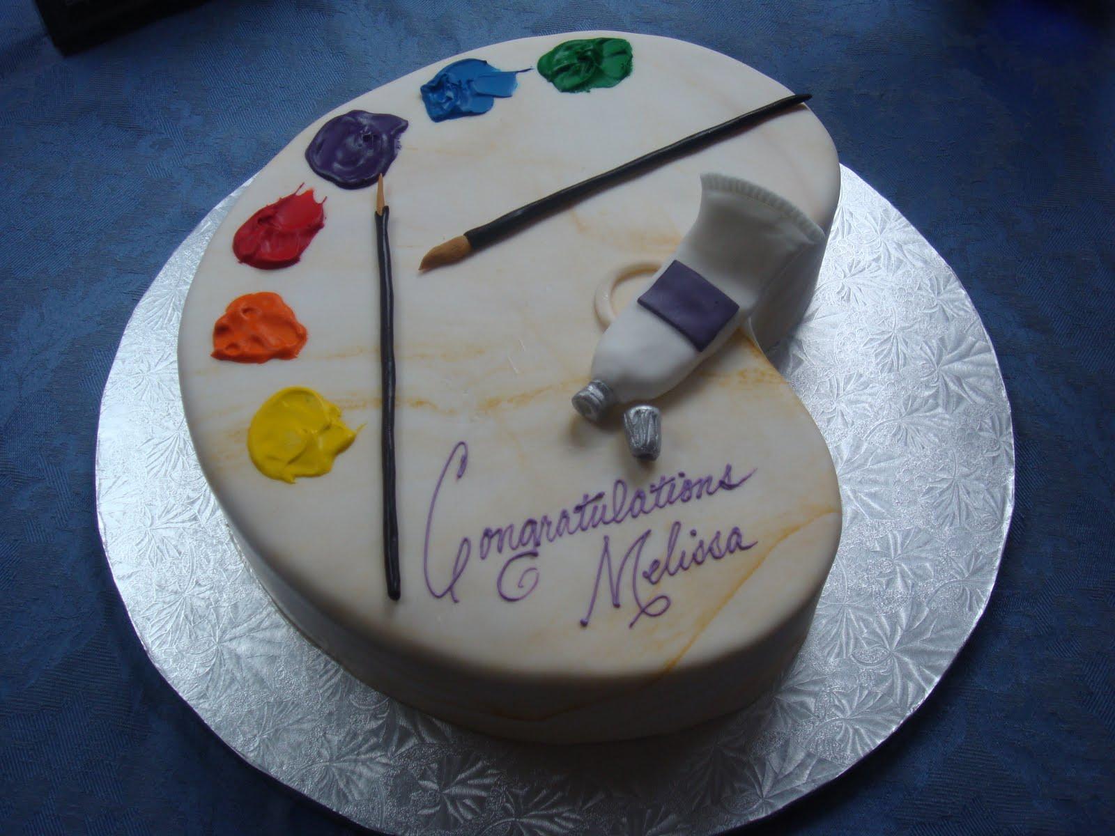 Cake Art School : Tasty Paintings: Graduation Cake