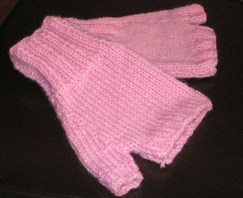 Knitting Pattern Fingerless Mittens Two Needles : Knitting Galore: Easy Knit Fingerless Gloves