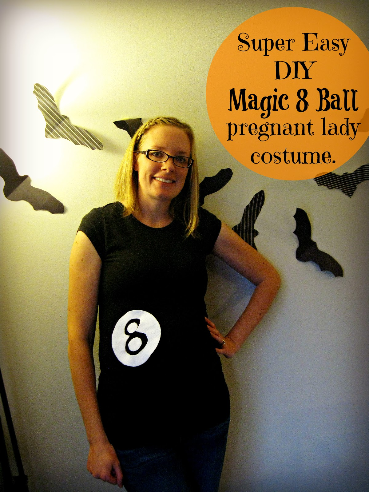 super easy pregnant lady costume - Magic 8 Ball Halloween Costume