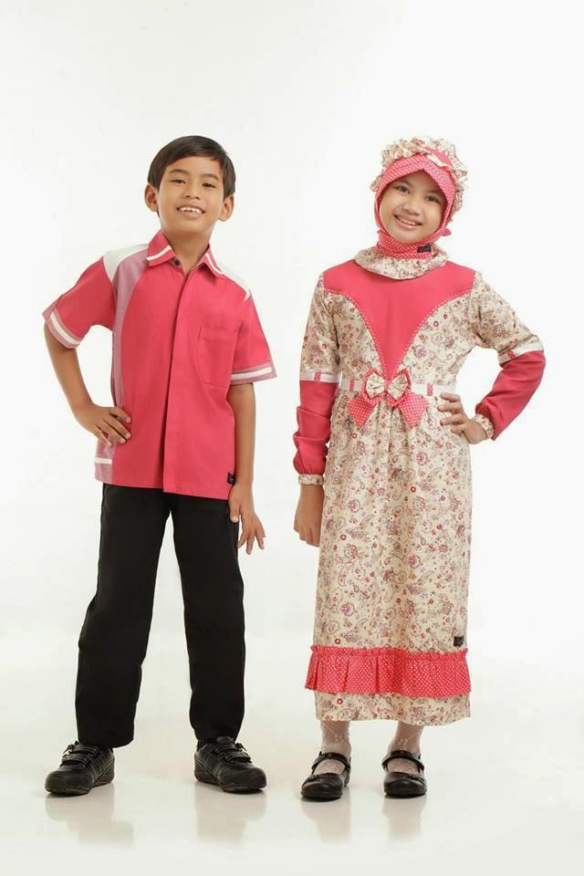 Baju gamis anak sarimbit