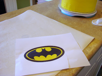 Ipsy bipsy bake shop batman make your own template for Batman logo cake template