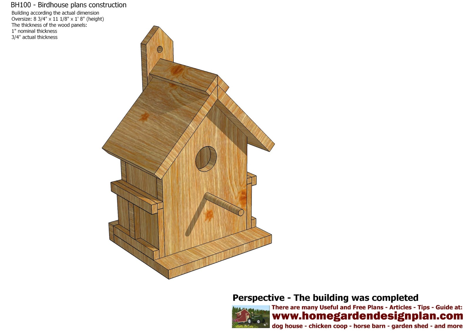 ... Barn Bird House Plans further Free Bird Feeder Plans. on wood