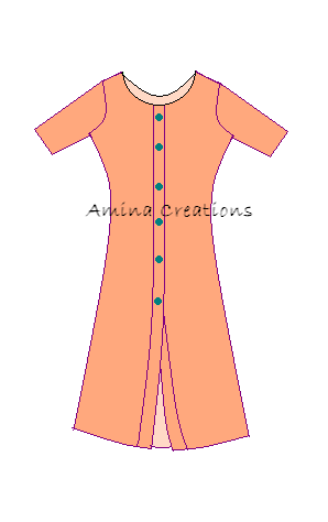 AMINA CREATIONS: HOW TO STITCH KAMEEZ WITH FRONT OPENING PATTERN ...