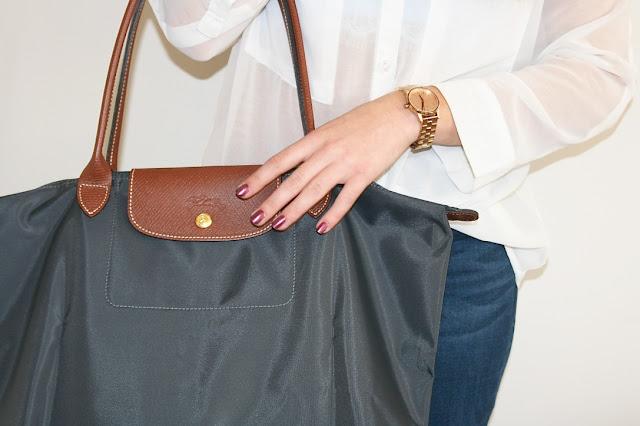 Katherine Penney Chic New Handbag Haul Shopping Designer Luxury Longchamp Pretty Gunpetal beautiful love preppy favourite