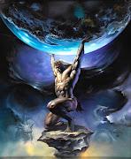 Zeus deu como castigo a Atlas a função de sustentar os céus sobre seus .