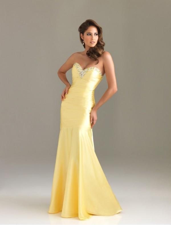 Yellow Prom Dresses 16