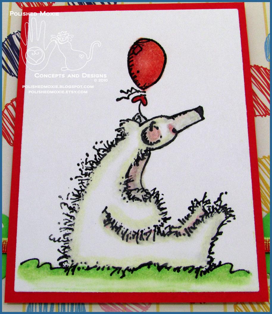 Whimsical Handmade Polar Bear Birthday Card