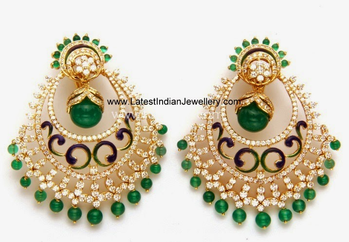 Diamond Chand Bali earrings