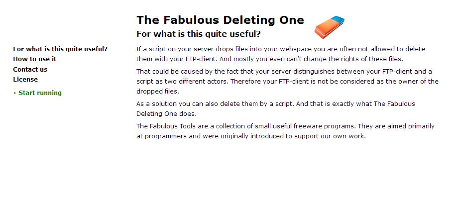 Screenshot The Fabulous Deleting One