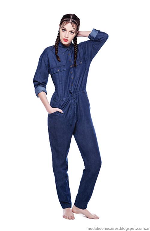 Overoles de jeans moda 2015, Complot jaans verano 2015.