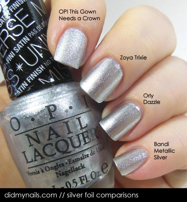 Did My Nails: Silver Foil Comparison Zoya Trixie