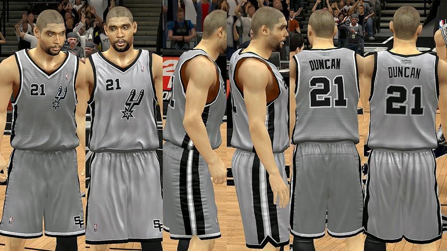 NBA2K Spurs Gray Alternate Jersey