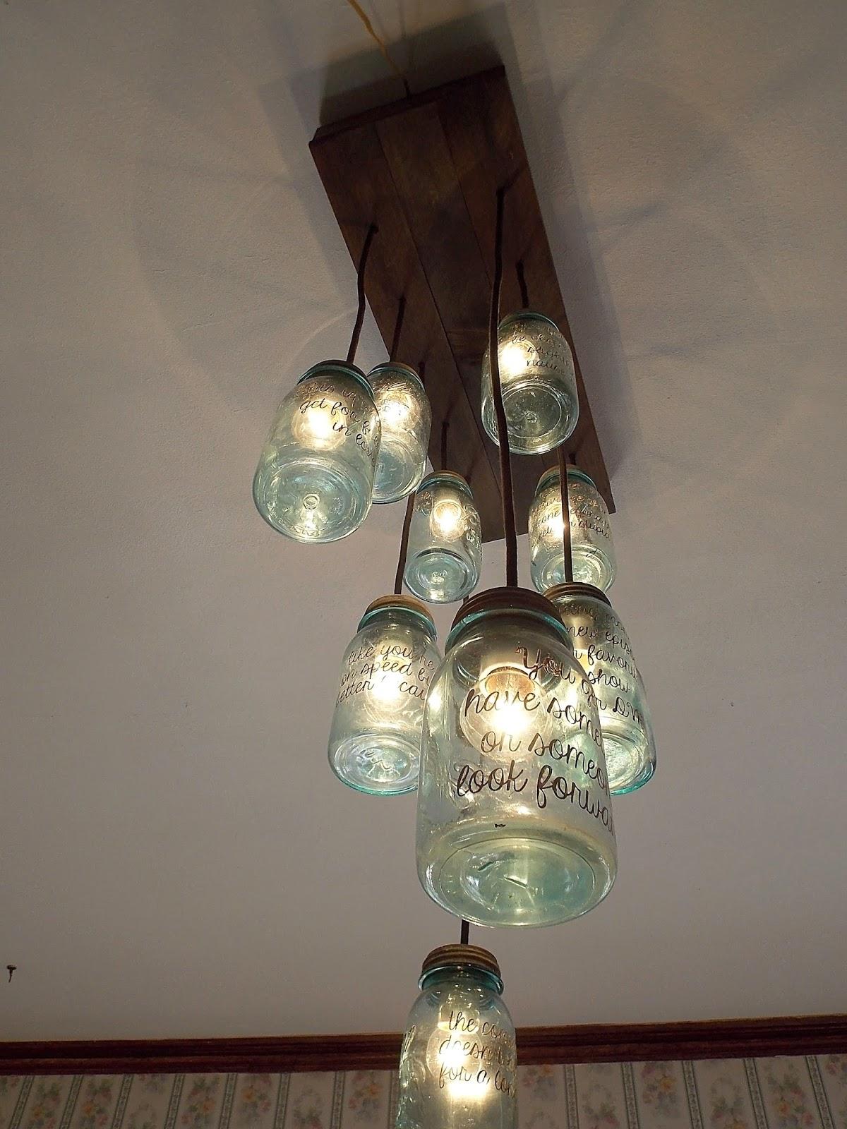 the true blue vintage mason jar chandelier rubbishlove. Black Bedroom Furniture Sets. Home Design Ideas