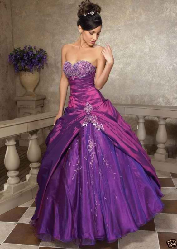 Bridal Style And Wedding Ideas Purple Bridal Gowns
