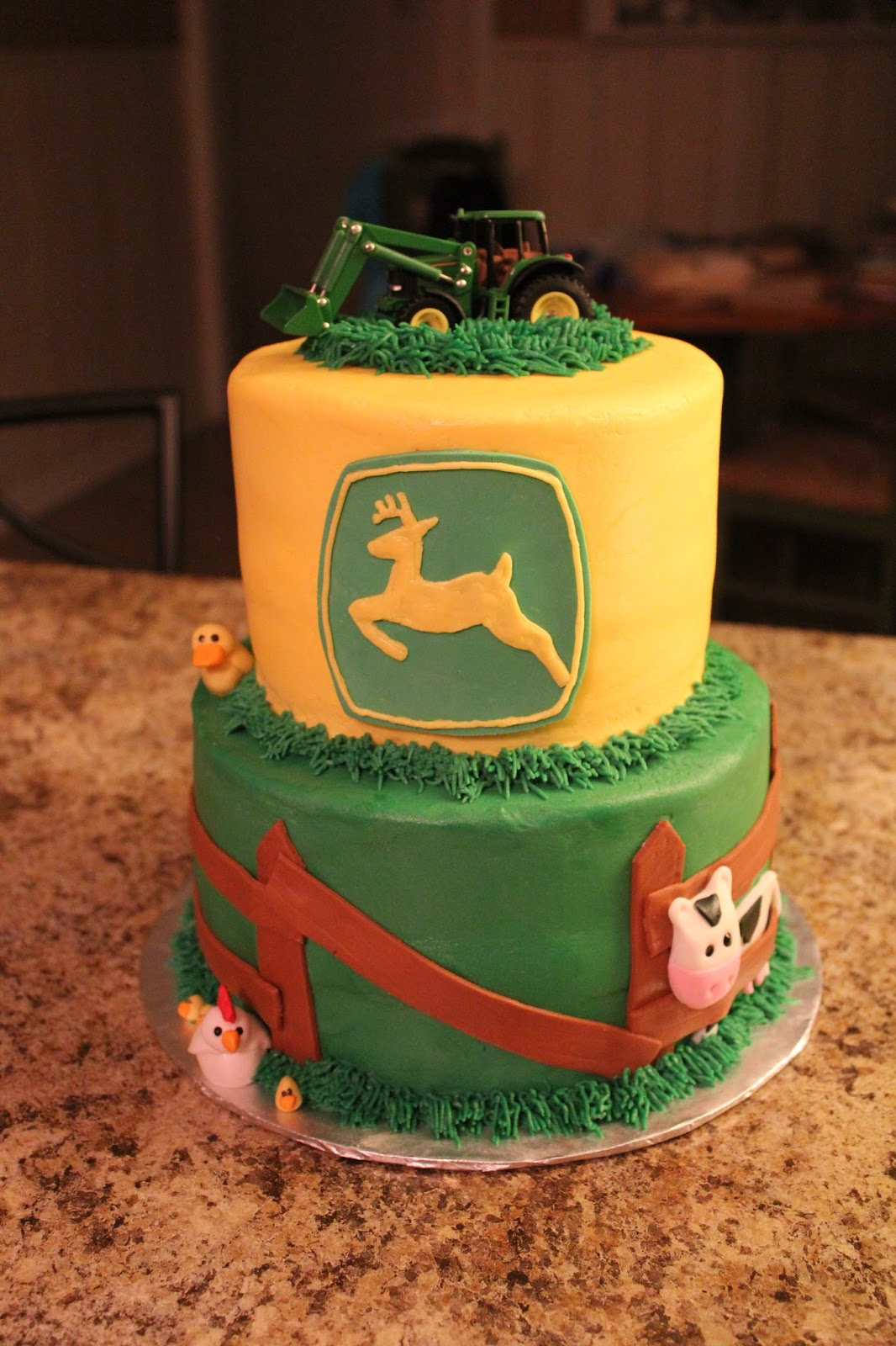 blissful bash john deere baby shower cake
