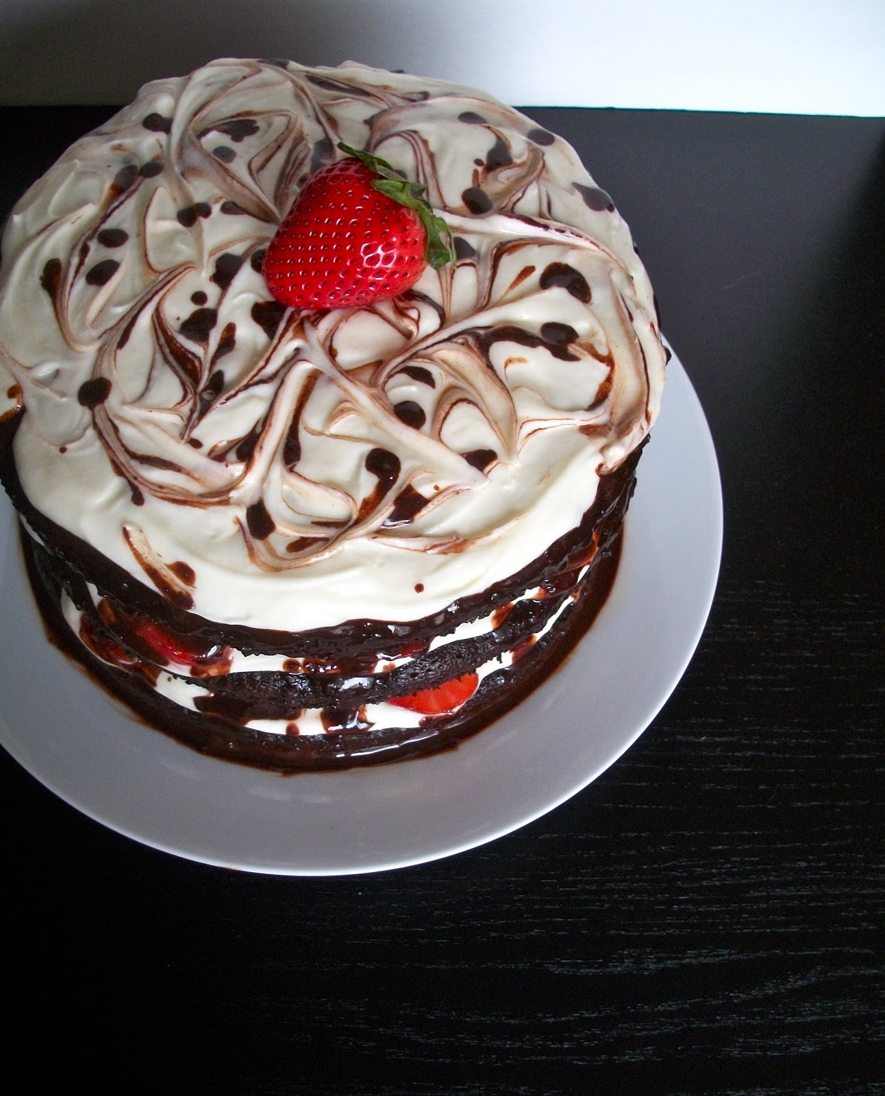 Brooke Bakes Moms Birthday Cake And Homemade Chocolate Sauce