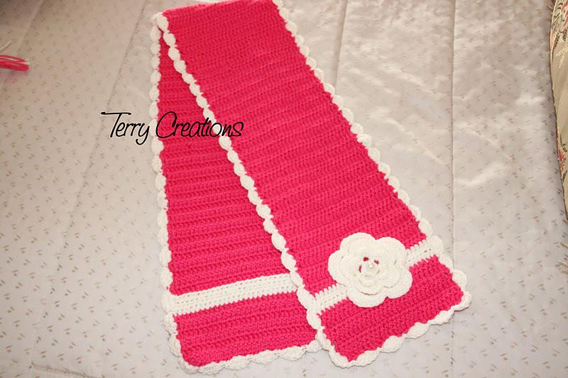 Populaire ♥_Terry Creations_♥*: Sciarpa e cappellino di lana all'uncinetto  RV06