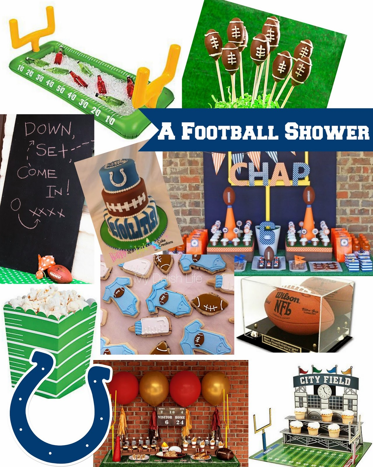 football themed baby shower shipwrecked on fabulous island